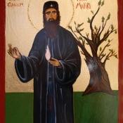 St Ephraim Icon,  Angelica Sotiriou, 2021